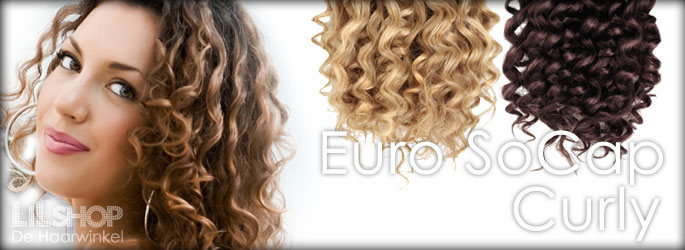 Euro SoCap Curly Human HaarExtensions 50cm Remy quality.