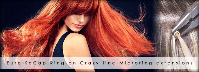 Microring extensions ring-on Crazy Line by Euro SoCap.