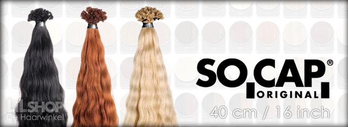40cm SoCap Original Human Hair Extensions Remy quality.