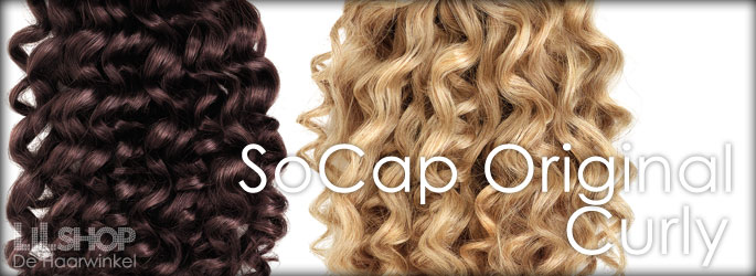 50cm SoCap Original Human Hair curl haar extensions Remy quality.