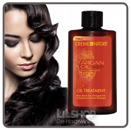 Argan Oil treatment. Heerlijk voor Brazilian Hair