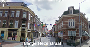 Rechtdoor de Lange Hezelstraat in.