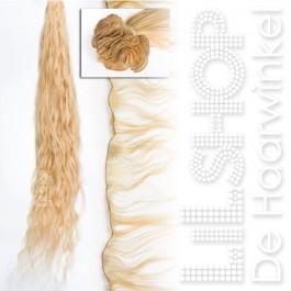 Braziliaans haar, Brazilian Hair 30cm Handgeweven kleur: 20 Lichtblond