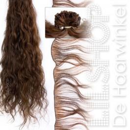 Braziliaans haar, Brazilian Hair 70cm Handgeweven kleur: 6 Kastanjebruin