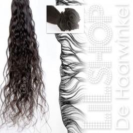Braziliaans haar, Brazilian Hair 30cm Handgeweven kleur: 2 Zeer donkerbruin / natuur