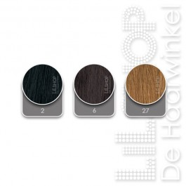 Brazilian Hair kleurenkaart met kleuren 2, 6, 20, 27, DB2, 1001