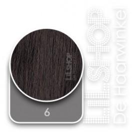 Braziliaans haar, Brazilian Hair 50cm Krul Handgeweven kleur: 6 Kastanjebruin