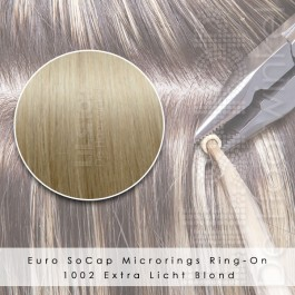 Ring-On Microrings Hairextensions in 1002 Extra Licht Blond