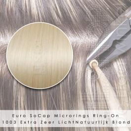 Ring-On Microrings Hairextensions in 1003 Extra Zeer Licht Natuurlijk Blond