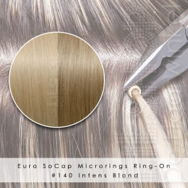 Ring-On Microrings Hairextensions in 140 Intens Blond