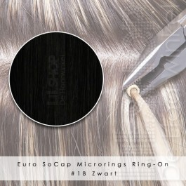 Ring-On Microrings Hairextensions in 1B Zwart