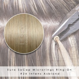 Ring-On Microrings Hairextensions in 24 Intens Asblond