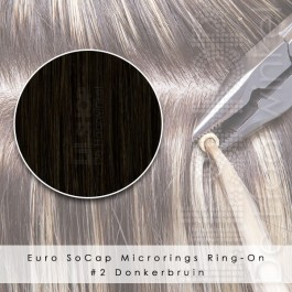 Ring-On Microrings Hairextensions in 2 Donkerbruin