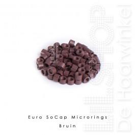 Euro SoCap Rings Bruin 1000 st. voor Micro Rings