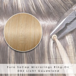Ring-On Microrings Hairextensions in DB2 Licht Goudblond