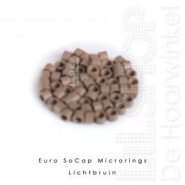 Euro SoCap Rings Lichtbruin 1000 st. voor Micro Rings