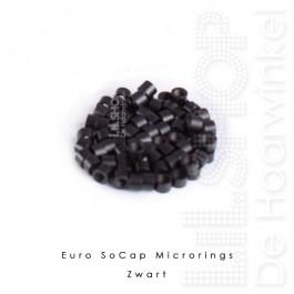 Euro SoCap Rings Zwart 1000 st. voor Micro Rings