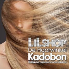 Kadobon, cadeaubon geldig in de webshop van LiLShop de Haarwinkel