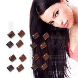SoCap Rebound keratine wax bruin 25 st. voor extensions.