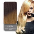 Shatush Line Ombre Dip Dye Extension 4/14 Donker Kastanjebruin / Blond van Euro SoCap. Dip Dye hairextensions van Remy-kwaliteit.