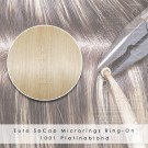 Ring-On Microrings Hairextensions in 1001 Platinablond