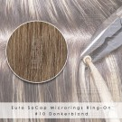 Ring-On Microrings Hairextensions in 10 Donkerblond