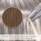 Ring-On Microrings Hairextensions in 12 Donker Goudblond