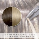 Ring-On Microrings Hairextensions in 18/24 Bruin / Intens Asblond