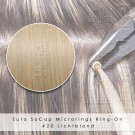 Ring-On Microrings Hairextensions in 20 Lichtblond