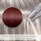 Ring-On Microrings Hairextensions in 35 Intens Rood