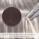 Ring-On Microrings Hairextensions in 6 Chocoladebruin