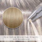 Ring-On Microrings Hairextensions in DB3 Goudblond