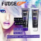 Fudge Clean Blonde Violet Toning Shampoo plus Conditioner Duo voordeel pakket